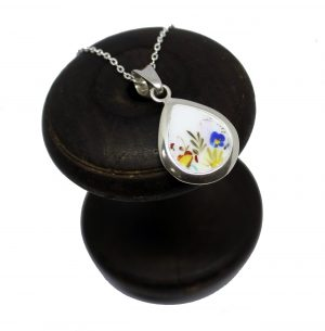 wildflower broken china irish silver made in ireland cavan necklace gift wedding anniversary