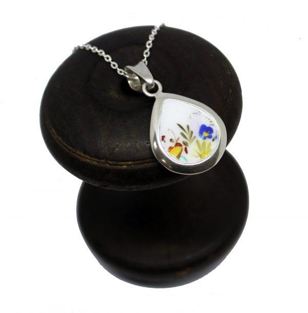 wildflower broken china irish silver made in ireland cavan necklace gift wedding anniversary